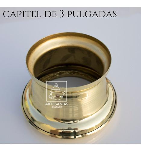capitel para cirio de 7.5 cm o 3 pulgadas de diámetro