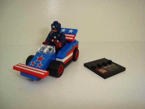 capitão américa + cars blocos de montar avengers vingadores