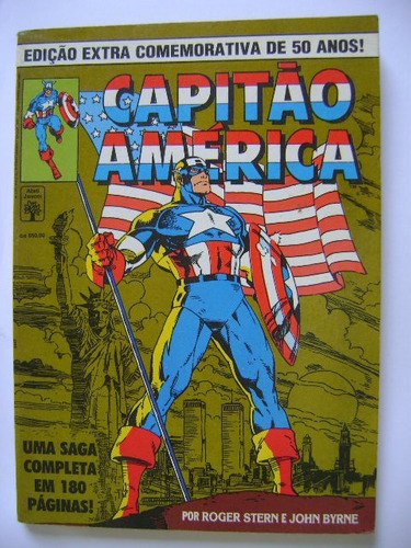 capitão américa  ed extra comemorativa de 50 anos! ago 91