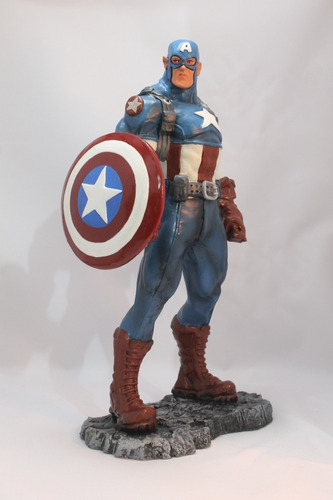 capitão américa  escultura 42 cm