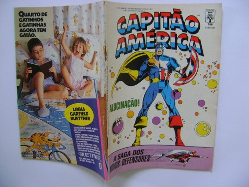 capitão américa  nº106 março 1988 editora abril ótimo!