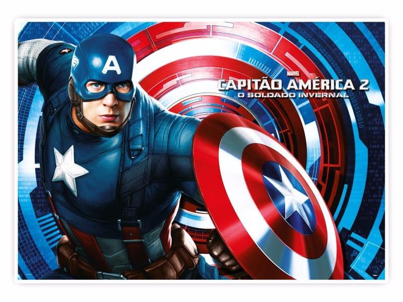 Papel De Parede Do Capitao America: Capitão América Ou Qq Tema Papel De Arroz. Frete R$ 12,80