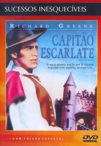 capitão escarlate - dvd - richard greene - leonora amar