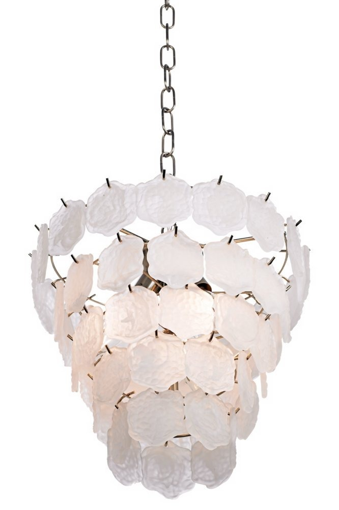 Capiz style white glass chip 12 wide small chandelier 784123 capiz style white glass chip 12 wide small chandelier cargando zoom aloadofball Images