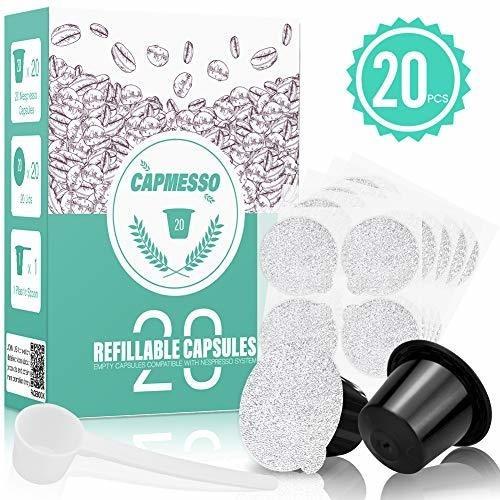 capmesso capsulas de cafe reutilizables para espresso
