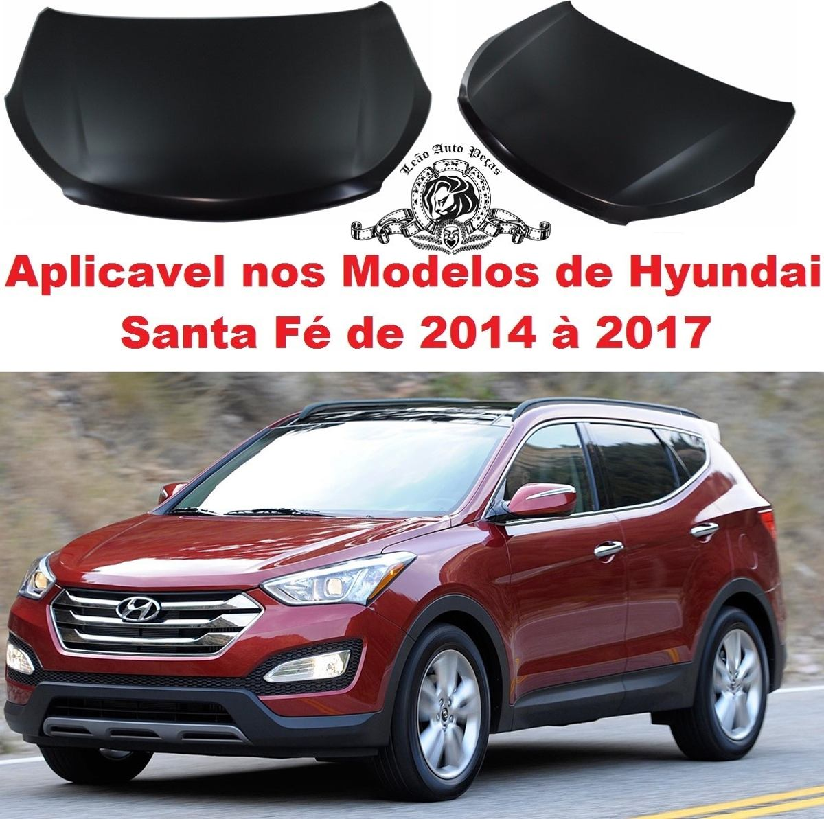 Capo Hyundai Santa Fé De 2014 à 2017 Novo. Carregando Zoom.