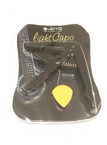 capo requinto guitarra joyo negro con púa de regalo