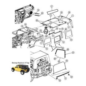Capota De Lona  Completa Jeep Wrangler 2 Portas