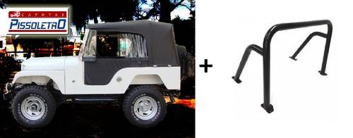 capota para jeep cj5 + santo antônio 3