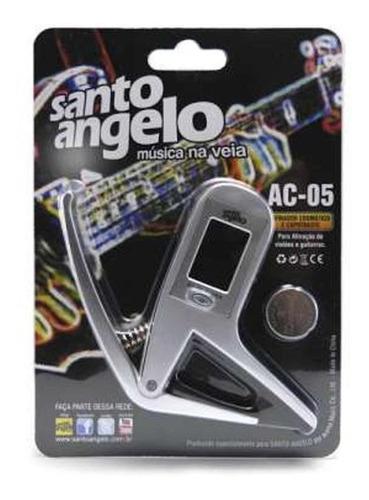 capotraste santo angelo afinador ac-05 guitarra baixo violão