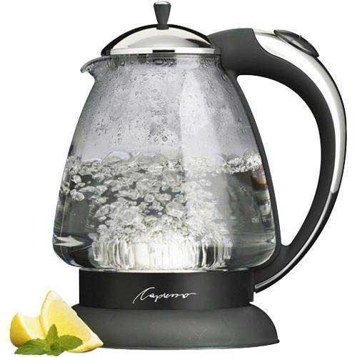 capresso 259 h2o plus glass caldera del agua, cromo pulido
