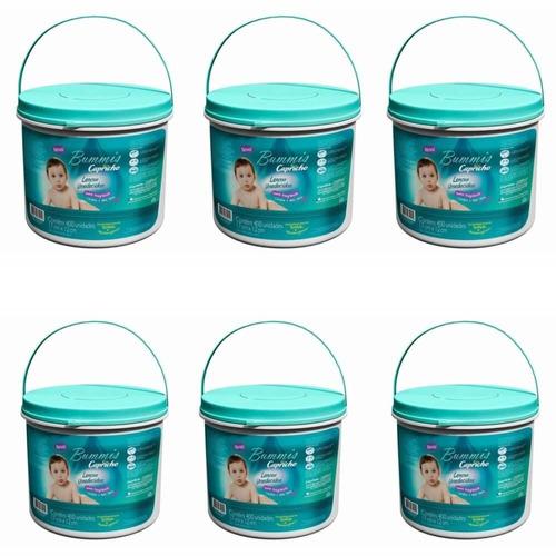 capricho bummis lenços umedecidos balde c/400 (kit c/06)