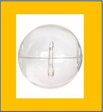 capsula 1 pulgada redonda cristal