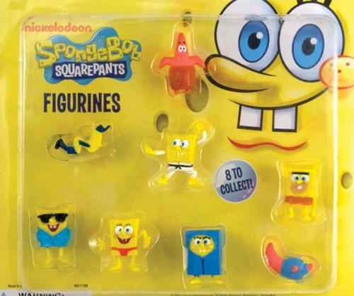 capsula 2 pulgadas con 50 figurines bob esponja y patricio