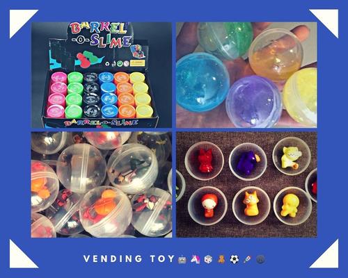 cápsula 2 pulgadas con juguete incluído paquete con 200 pza