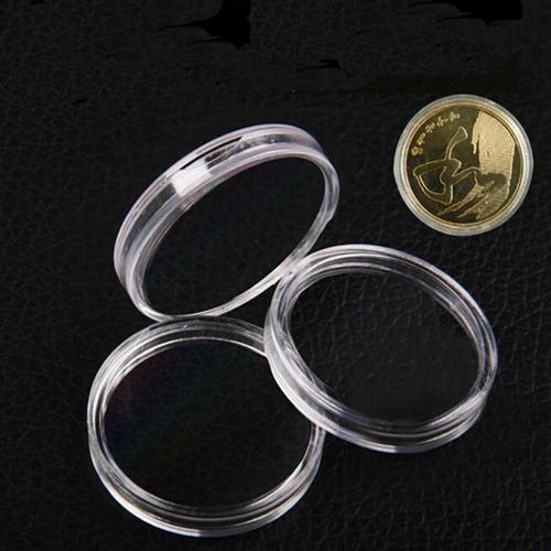 cápsula de acrilico para moedas de 45 mm- frete único