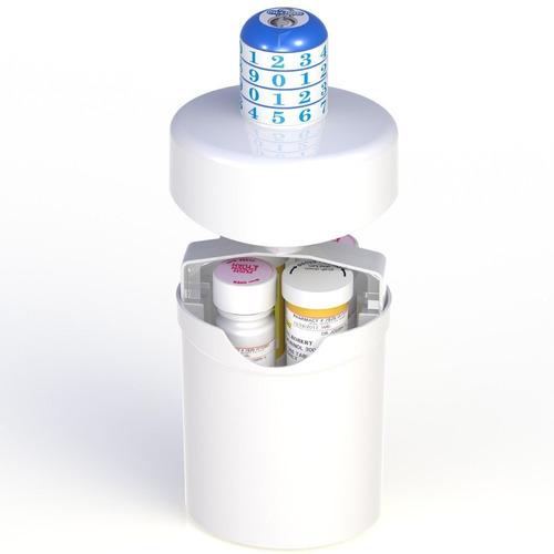 cápsula de pastillas medicamentos/rx drogas caja de cerra
