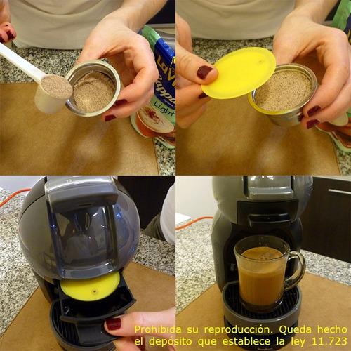 capsula recargable dolce gusto acero inox dgpod + descal