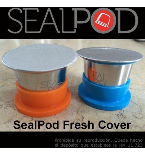 capsula recargable nespresso acero inox sealpod x2 + descal