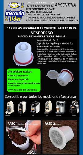 capsula recargable nespresso x3 ultima edicion