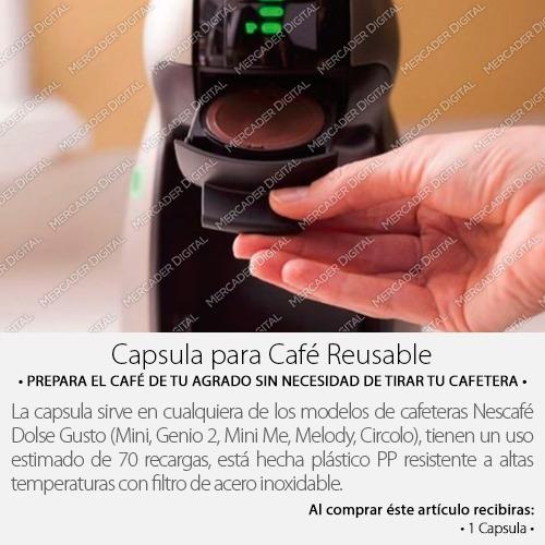 capsula reusable / contenedor de refil  para cafetera