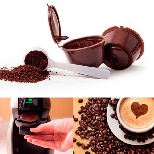 cápsula reusable filtro contenedor cafeteras dolce gusto