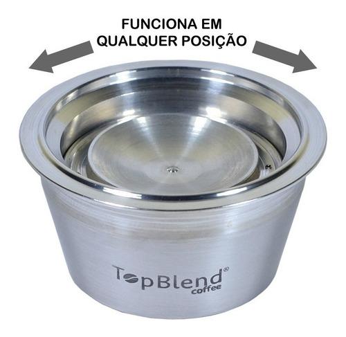 cápsula reutilizável dolce gusto recarregável topblend +tamp