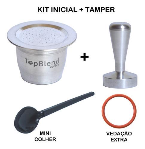 cápsula reutilizável nespresso + frete grátis + tamper