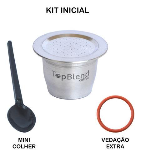 cápsula reutilizável nespresso vitalícia topblend alumínio