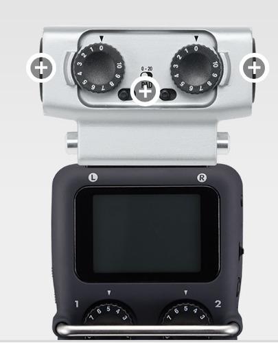 capsula zoom xlr-dual para grabadora h5 o h6