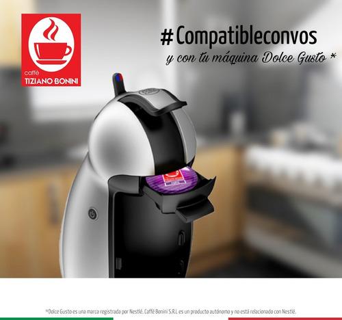 cápsulas bonini compatibles dolce gusto - caffé latte