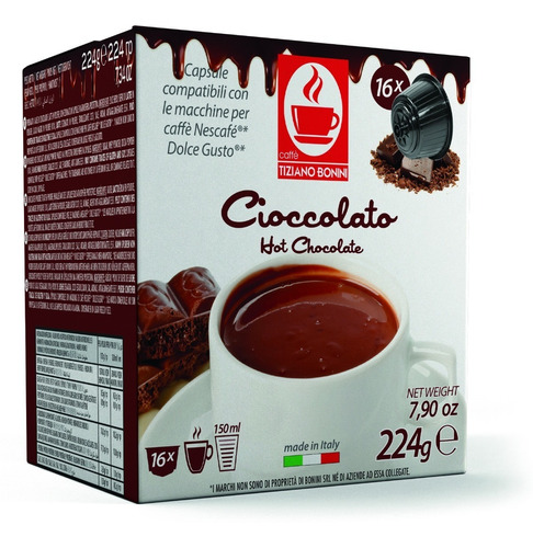 cápsulas bonini compatibles dolce gusto - cioccolato
