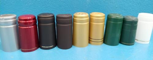 cápsulas- capuchones  de pvc para botellas 100 unidades