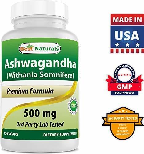 cápsulas de ashwagandha para relajar el estrés y el estado d