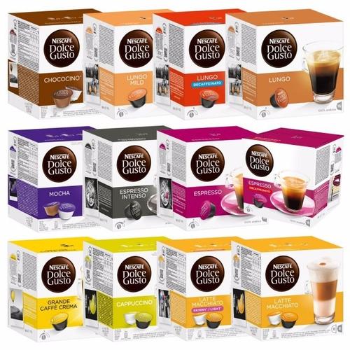 cápsulas de café dolce gusto. varios sabores. nuevas