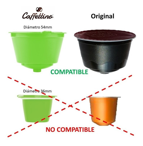 capsulas dolce gusto recargables caffettino x4 - ecologicas