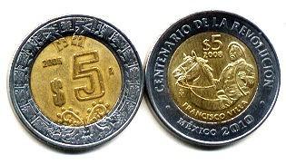 capsulas monedas 26 mm para 5 pesos actual 100 pzas