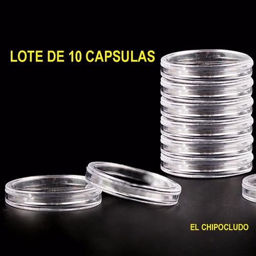 capsulas monedas de 26 32 38 39 40 mm precio x 10 pzas