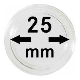 Capsulas Para Monedas Marca Lindner Original 25 Mm