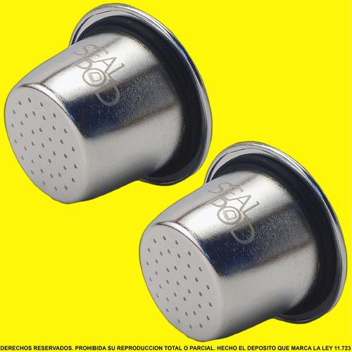 capsulas recargables nespresso sealpod acero inoxidable x2
