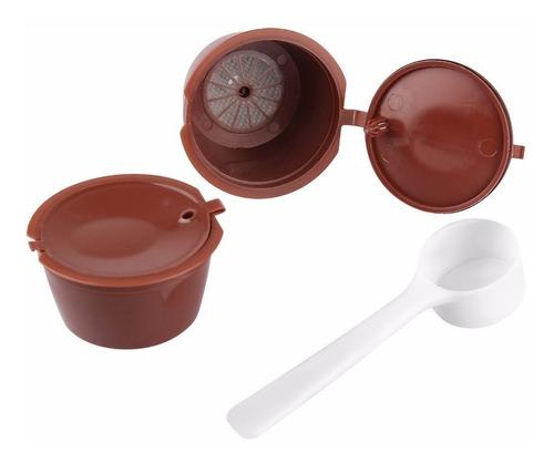 cápsulas reutilizables dolce gusto x 2 uds + cuchara +manual