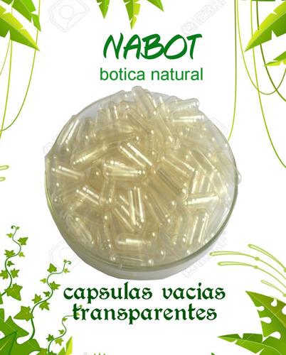 capsulas vacias de gelatina # 0 millar (transparente)