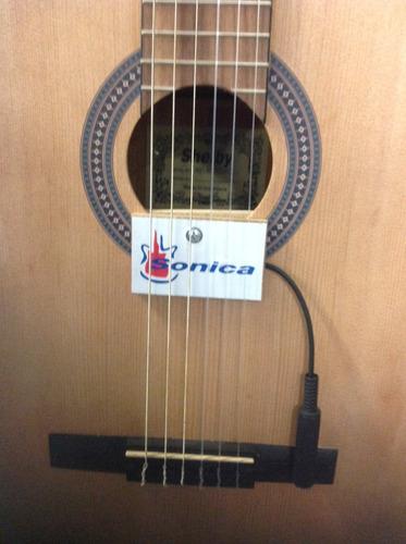 capt. sonica cristal de violão viola cavaco com cabo 5m