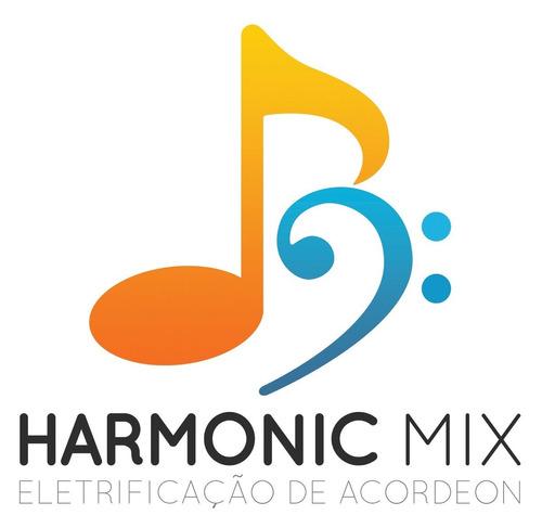 captação para acordeon sanfona profissional harmonic mix 15