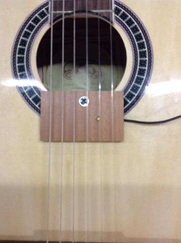 captador / cristal de violão, viola, cavaco+emenda j10 (p10)
