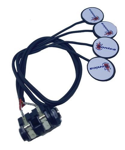 captador de violão sonica quádruplo (contato) kit c/100 unid