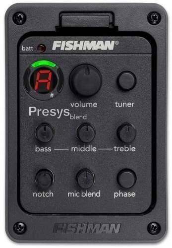captador fishman presys blend c/microfone pre amp completo