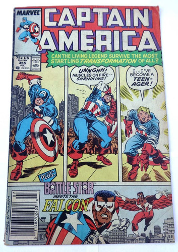 captain america nº 355: meets the falcon - marvel usa -1989