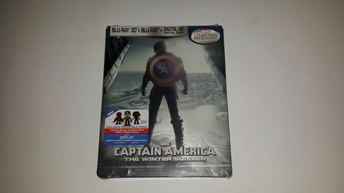 captain america: the winter soldier blu ray 3d  steelbook