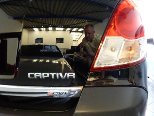 captiva 2.4 aut ecotec sport 2009 preta